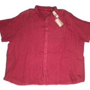 Tommy Bahama Men's 5XL Salmon Pink Camp Shirt